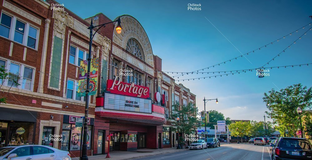Portage Theater on Milwaukee Avenue in Portage Park, Chicago