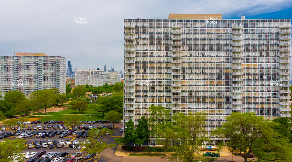 Lake Meadows Apartments With Sears Tower Between