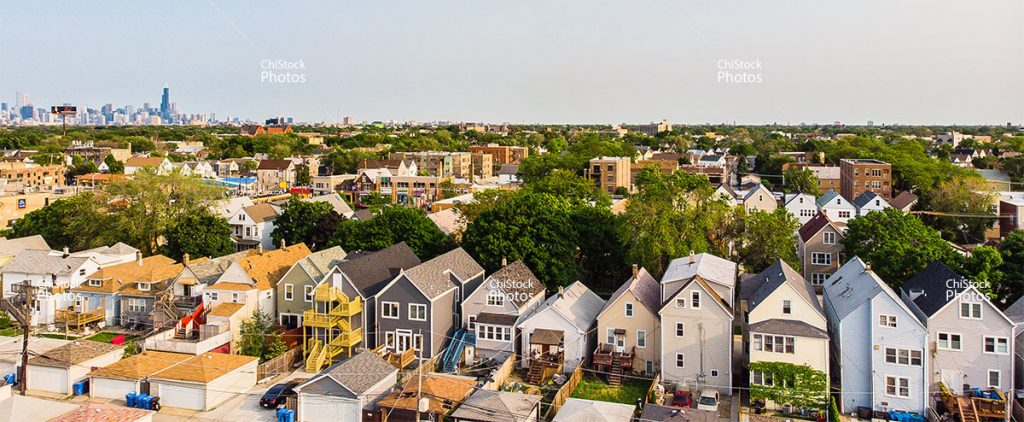 Above Avondale With Skyline In The Background