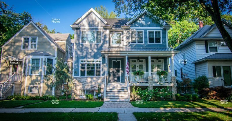 Irving Park Chicago Neighborhood Side Street Residential Architecture
