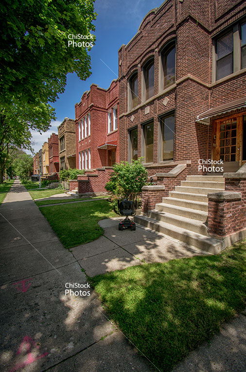 Two Flat Brown Brick in Portage Park