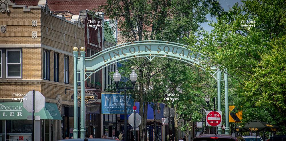 Entrance To Lincoln Avenue Lincoln Square Chicago