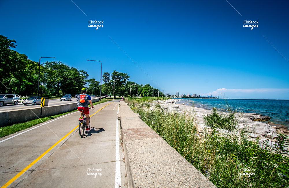 Woodlawn Lake Michigan Beach Lakefront Bike Trail