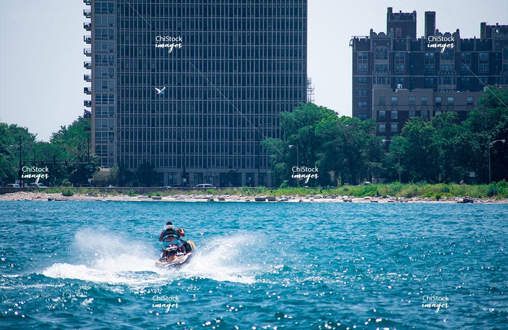 Lake Michigan Summer Woodlawn Jet ski Near The Beach