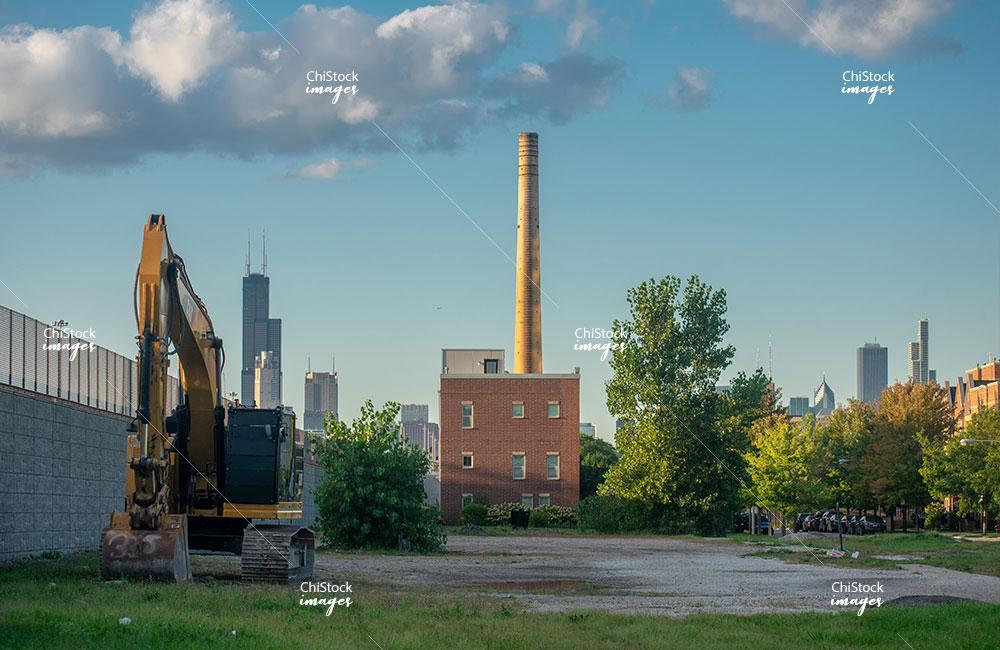 Industrial landscape in Douglas neighborhood Chicago