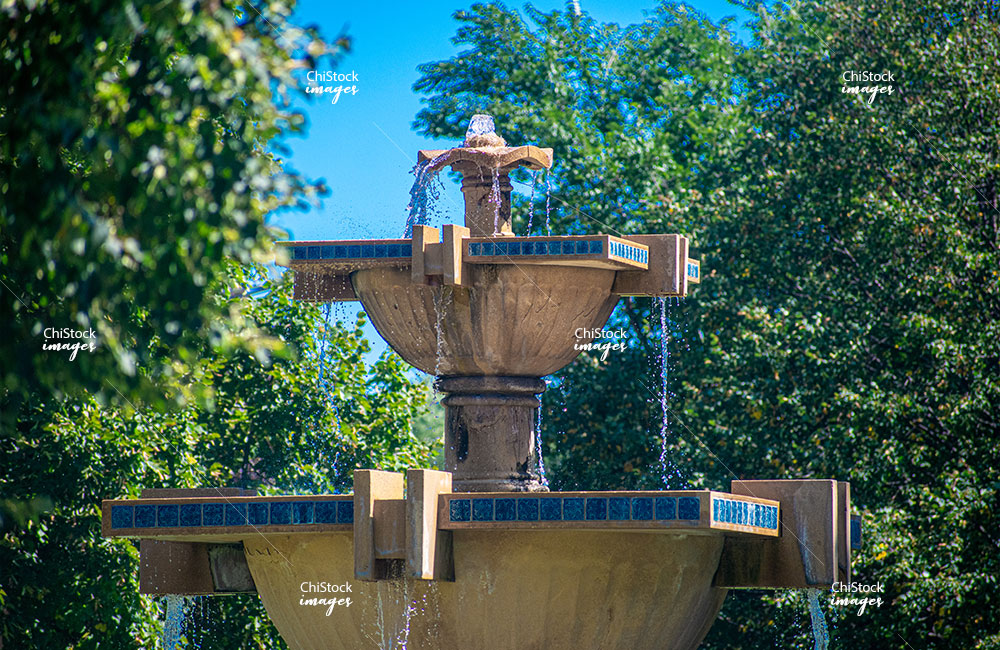 Gage Park Fountain at Western Ave and Garfield Boulevard