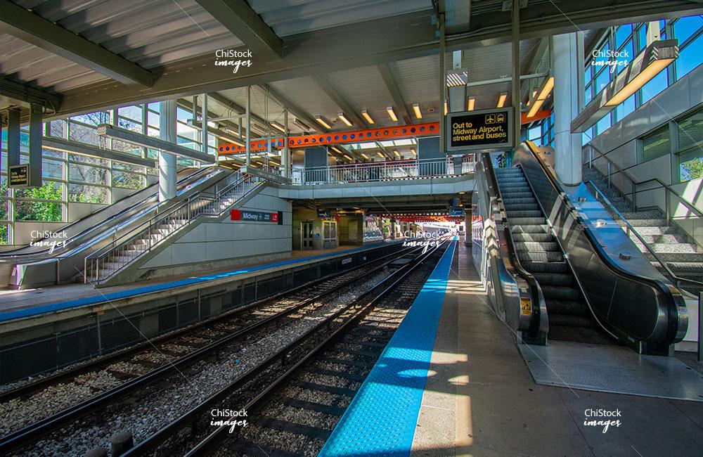 CTA Midway Orange Line West Elsdon Chicago