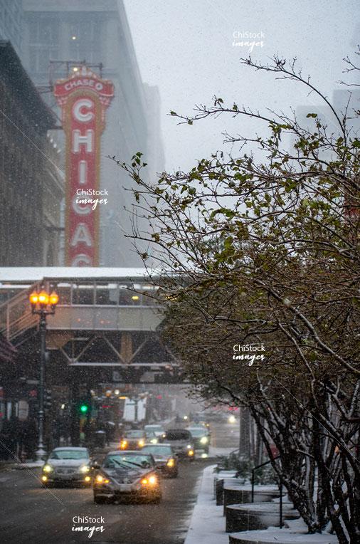 Snowy Day CTA Loop Chicago