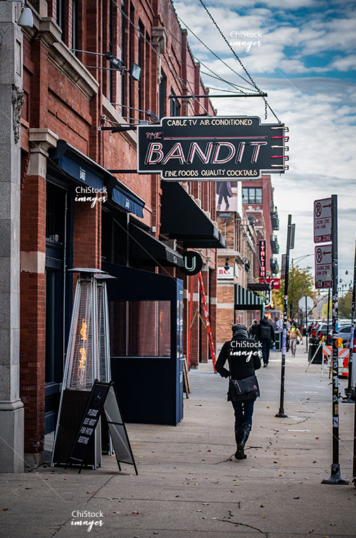 Chicagoans on Randolph Street Near West Side Chicago