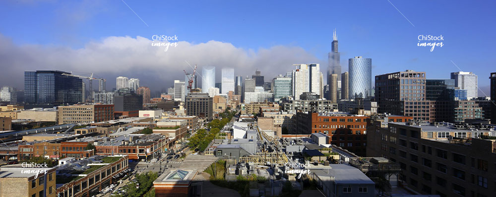 Downtown Chicago Facing East from MHQ In the West Loop