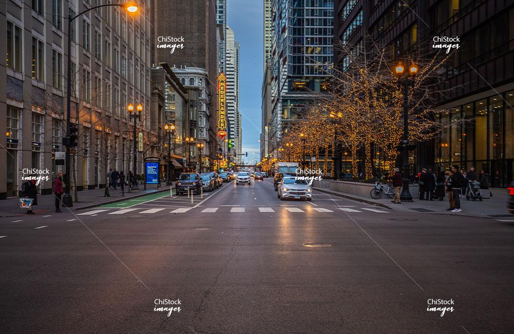Looking East on Randolph Street Loop Chicago