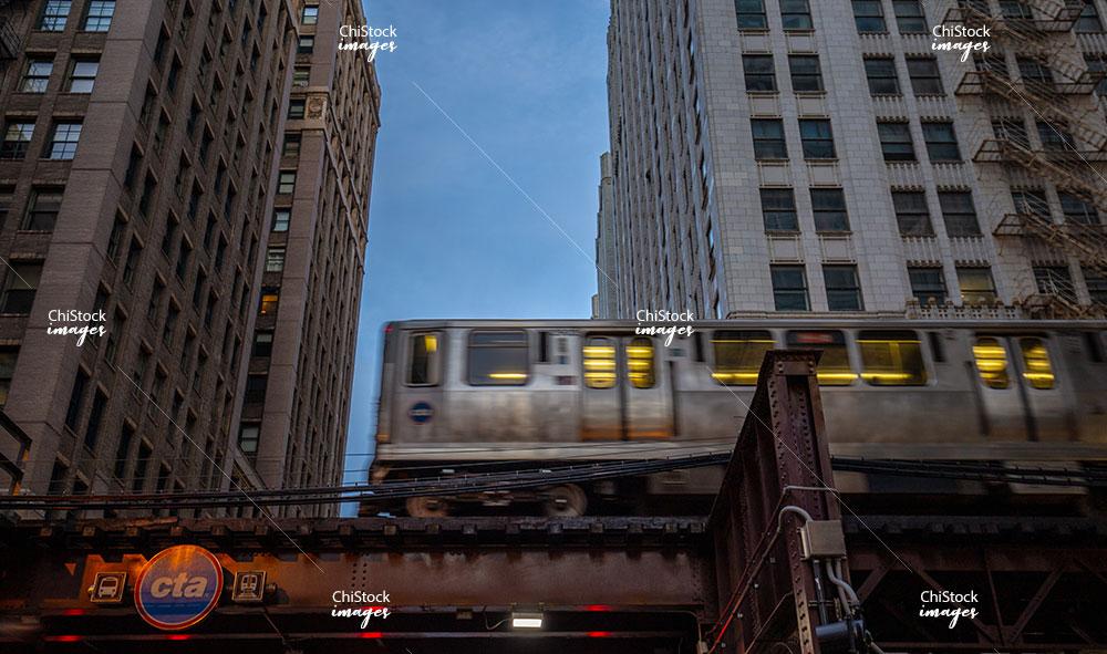 Orange Line Above Randolph Street Loop Chicago