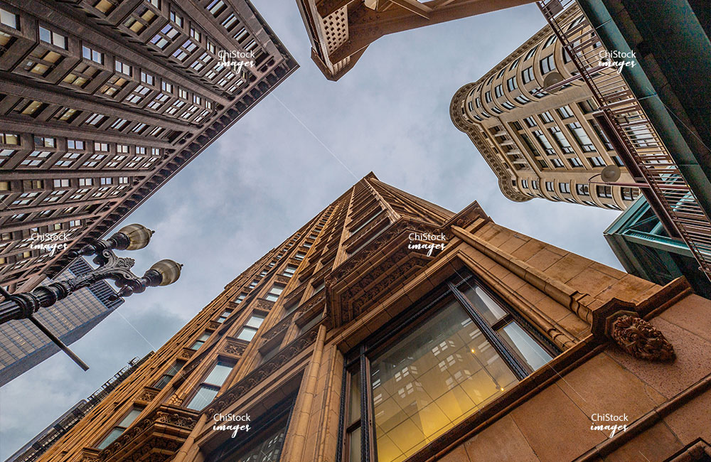 Looking Up at Architecture Loop Chicago