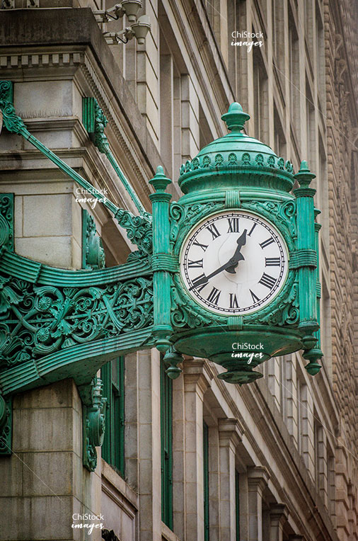 Marshall Field Building Clock Macy's Department Store Chicago