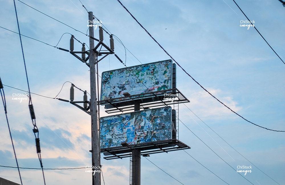 Abandoned Billboard East Side Chicago