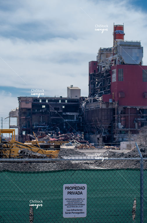 Demolition of Crawford Generating Station South Lawndale Chicago