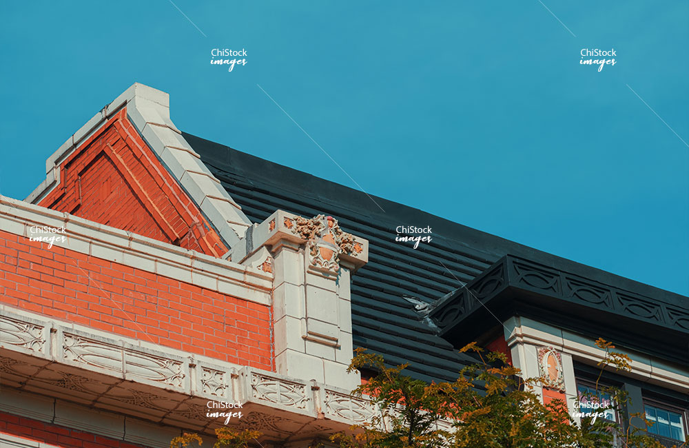 Architectural Detail on a Historic Building in Lincoln Square Chicago