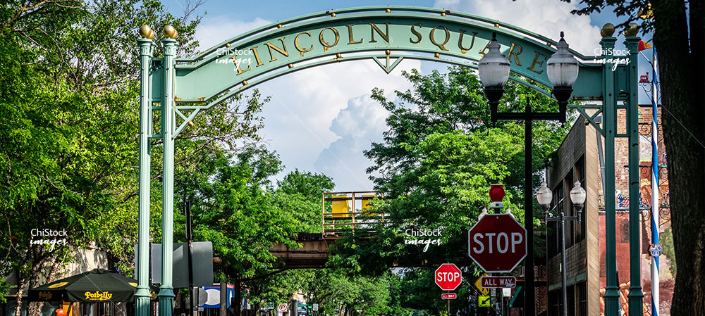 Lincoln Square Above Street Entrance Close Up