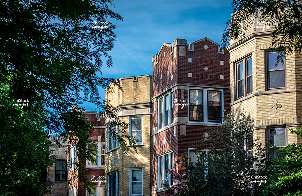 Row of Multifamily Apartment Buildings on a Side Street in Lincoln Square