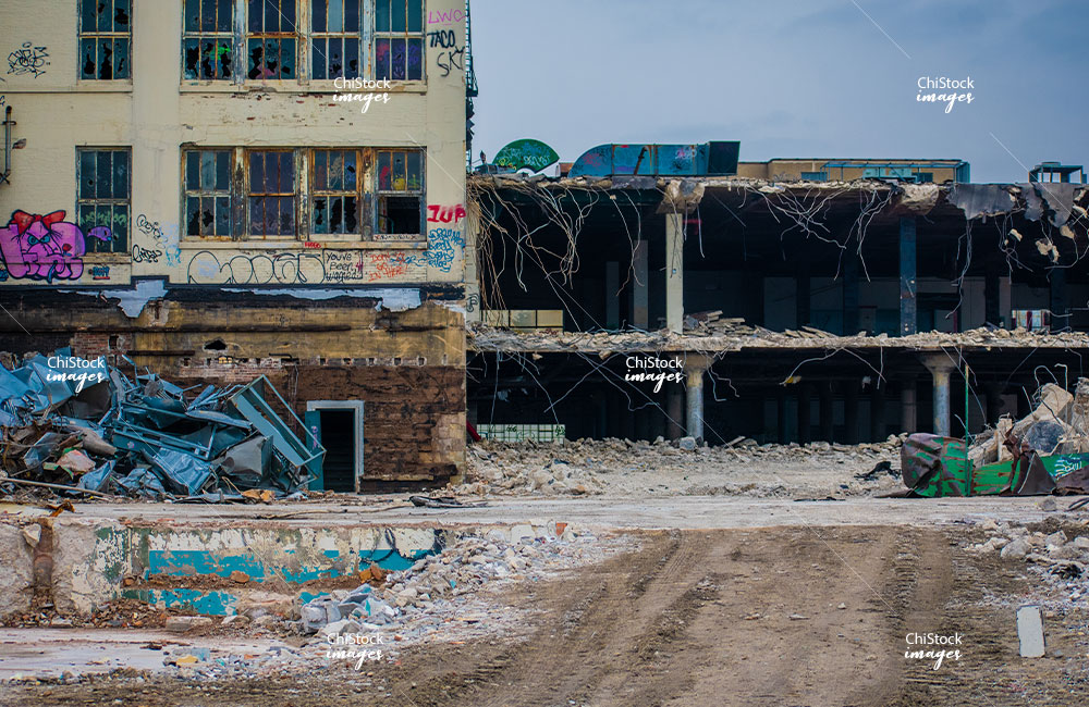 Wrigley Gum Factory Demolition in McKinley Park Chicago