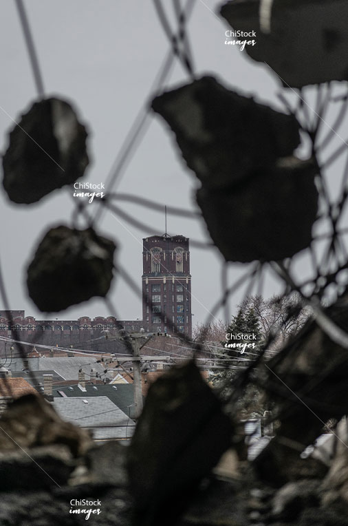Wrigley Gum Factory Demolition with CMD Tower in the Background McKinley Park Chicago