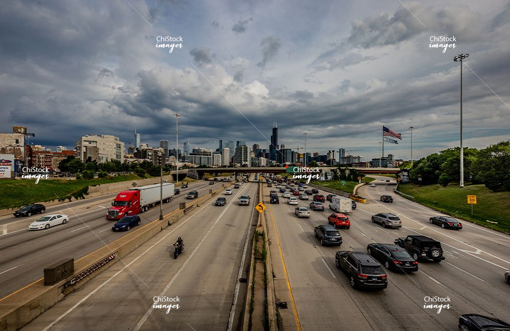 Chicago Avenue Above I-90/94 Kennedy Expressway West Town
