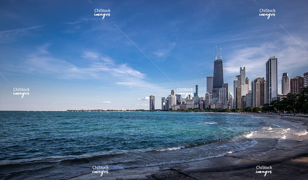 Streeterville High-Rises along Lake Michigan in Near North Side Chicago