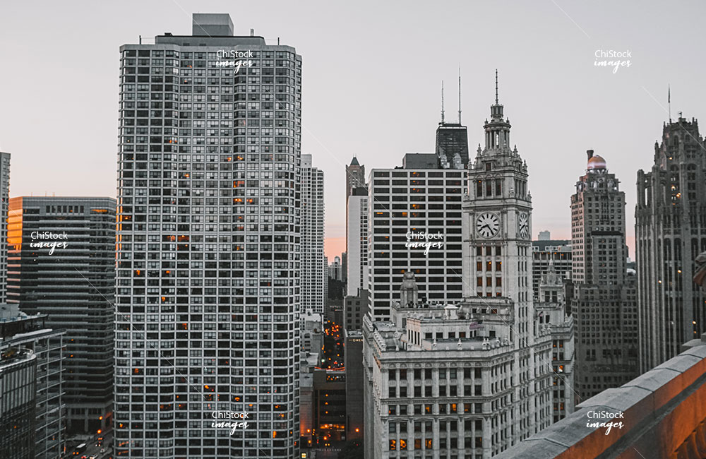 River North High-Rises along Chicago River in Near North Side