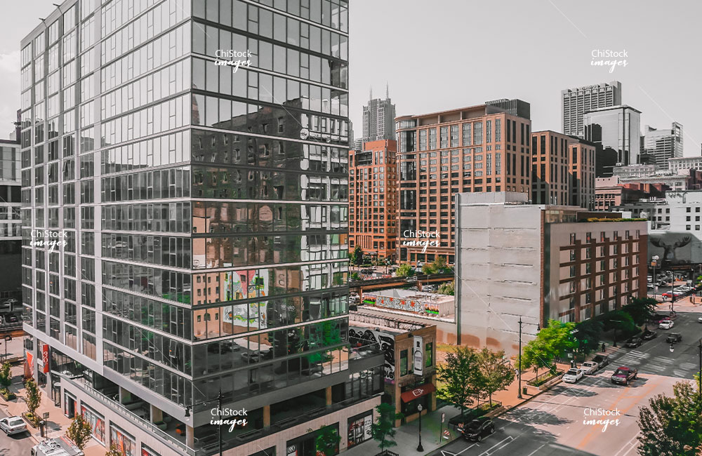 Residential and Office Buildings in Downtown Chicago
