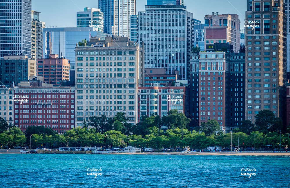 Streeterville and Gold Coast Skyline along Chicago's Lakefront